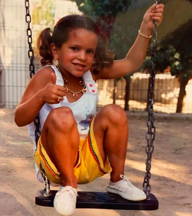Rosalía de pequeña